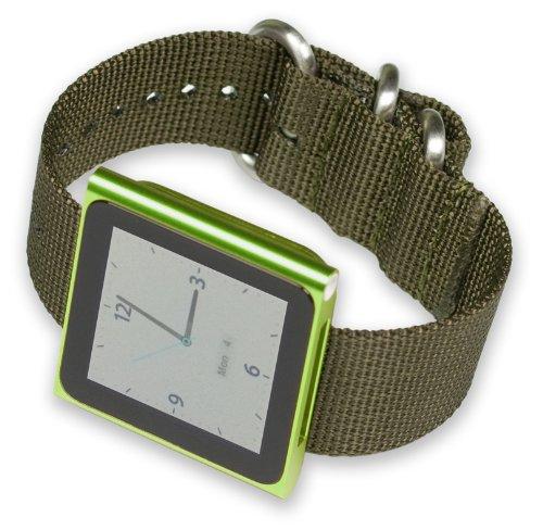 ipod-nano-watch-strap-olive-nylon
