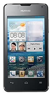 """Huawei Ascend Y300 4"""" Dual Core Android Smartphone (GSM Unlocked) - 4 Inch Screen, 4 GB Storage, 3G 900/2100 MHz - Black"""