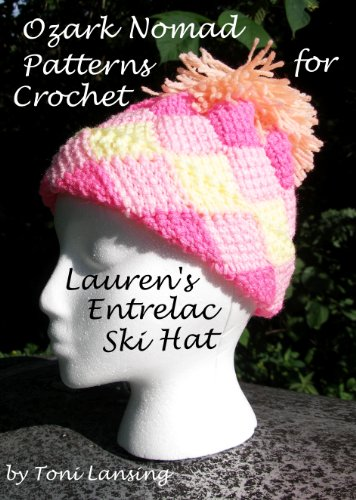 Ozark Nomad Patterns - Crochet - Lauren's Entrelac Ski Hat