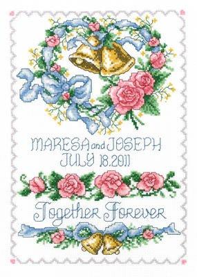 Wedding Bell Heart Cross Stitch Chart