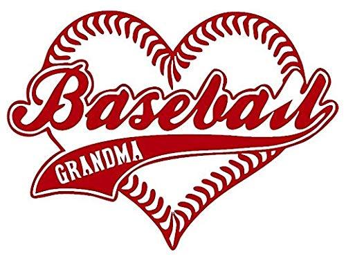 Baseball Heart Grandma