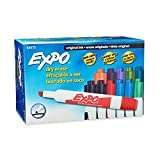 Bright, vivid, non-toxic ink is easy to see from a distance. Erases cleanly and easily with a dry cloth or Expo eraser. Quick-drying, smear-proof ink erases easily for no ghosting. Versatile chisel tip allows for broad or fine writing. Made i...