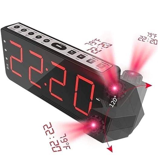 V.JUST Radio FM Reloj Despertador con Tiempo Proyección ...