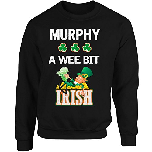 st-patricks-day-shirt-murphy-a-wee-bit-irish-gift-adult-sweatshirt-s-black