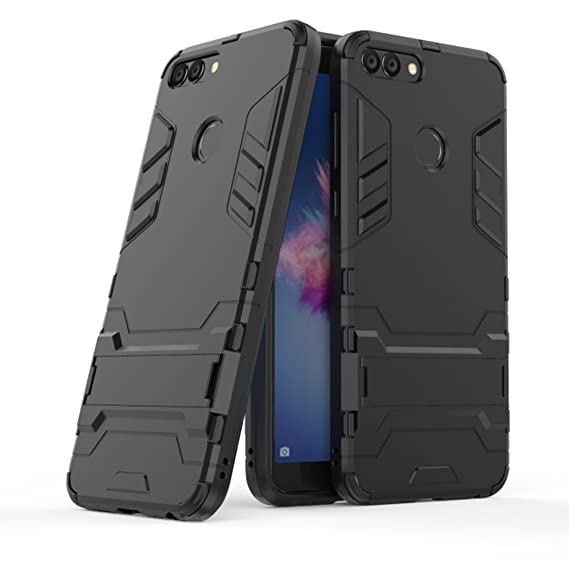 outlet store 91e6e 60be2 Huawei P Smart Case, Huawei Enjoy 7S Case, Ranyi [2 Piece Slim Armor]  [Built-in Kickstand] [Shock Absorbing] Hybrid Dual Layer 360 Protective 2  in 1 ...