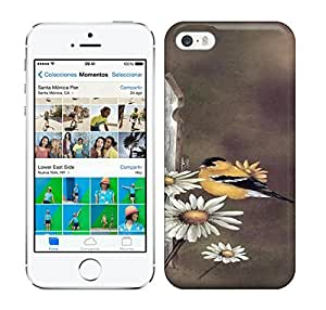 Best Power(Tm) HD Colorful Painted Watercolor Chrysanthemum And Bird Hard Phone Case For Iphone 5/5S