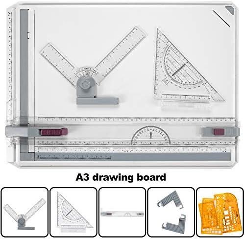 لوحة الرسم A3 لوحة رسم لوحة الرسم الجدارية متعددة الوظائف مجموعة أدوات متعددة الوظائف رسومية زاوية نظام قياس قابل للتعديل لفحص البناء والقوالب الاحترافية الهندسية Amazon Ae