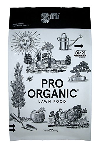 Shin Nong PRO ORGANIC Lawn Fertilizer, 100% Organic, 22lb, OMRI - For Holly Gardenias Tone
