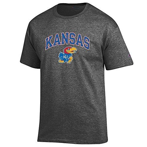 Elite Fan Shop Kansas Jayhawks TShirt Varsity Charcoal - - Athletics Jayhawks Kansas