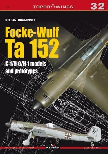Focke-Wulf Ta 152 C-1/H-0/H-1 models (TopDrawings) for sale  Delivered anywhere in USA