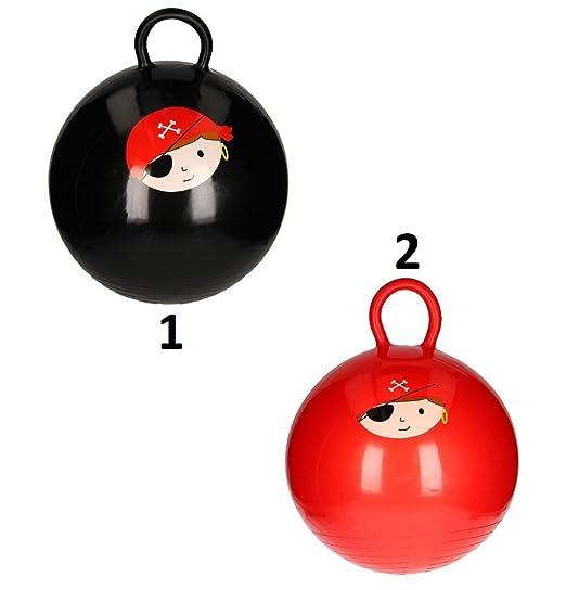 Générique - - Balón Saltador Pirata 46 cm - Mod2 Rojo - Juego ...