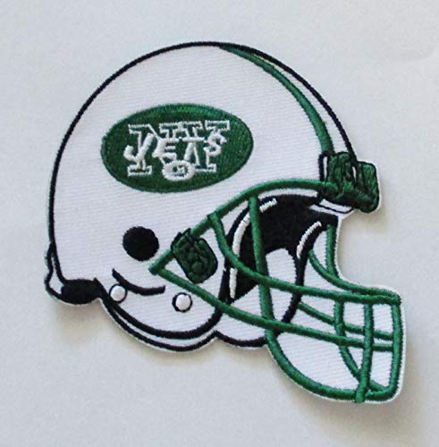 - NFL New York Jets Embroidered Helmet Patch Iron ON Item 3 1/8