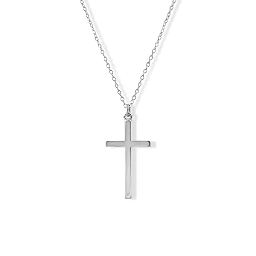 Amazon sterling silver plain cross pendant necklace 12 jewelry sterling silver plain cross pendant necklace 12 aloadofball Images