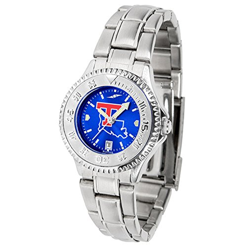 Louisiana Tech Watch Bulldogs Sport (New Linkswalker Louisiana Tech Bulldogs Ladies' Competitor Steel Anochrome Watch)