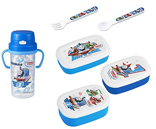 - Thomas the Tank Engine Lunch Set - 3 Lunch (Bento) Boxes, Bottle with Handles, Spoon and Fork (Japan Import)
