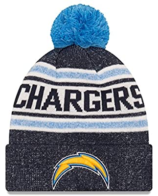 "Los Angeles Chargers New Era NFL ""Toasty Cover"" Cuffed Knit Hat with Pom"