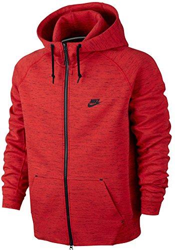 Nike Mens Tech Fleece AW77 Hoodie Jacket Red/Black
