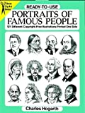 Ready-to-Use Portraits of Famous People, Charles Hogarth, 0486282295