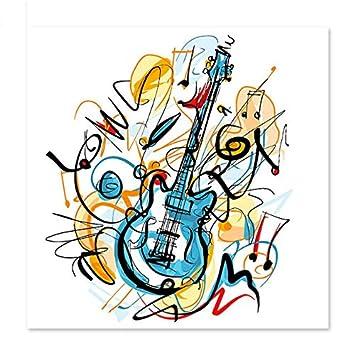 Superluckty Pinturas Decorativas Dibujar en Lienzo Pintura Digital Famosos Cuadros Guitarra de Pintura Abstracta: Amazon.es: Juguetes y juegos