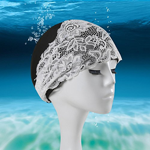 Smartcoco Waterproof Quick Dry Swimming Cap For Women Girls Lace Decoration Bathing Hat Swimming Pool - Triathlon Dallas