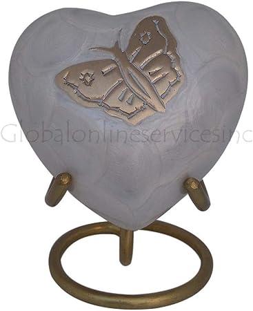 Mini C/œur Urne comm/émorative Royaume-Uni Petit souvenir C/œur Urne fun/éraire pour cendres