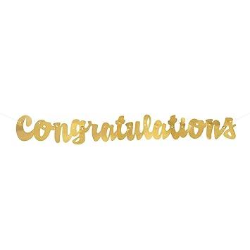 unique 61748 3 5 gold script congratulations banner banners