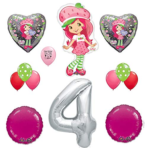 Combined Brands Strawberry Shortcake Party Supplies 4th Birthday Party Balloon Decoration ()