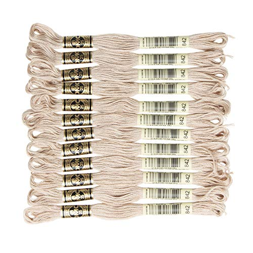 DMC 6-Strand Embroidery Cotton Floss, Very Light Beige Brown , Pack of ()