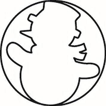 Emperador de galletas, molde, molde para galletas, diseño de muñeco de nieve, acero inoxidable, 7,4 x 3,6 cm: Amazon.es: Hogar