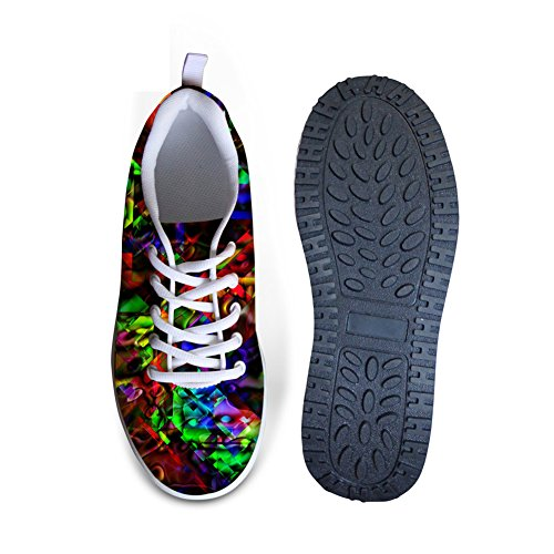 Knuffels Idee Multicolor Womens Mesh Walking Sneakers Kleurrijk 5