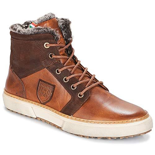 Marrone Uomo Fur Benevento Uomini Mid D'oro Alte Sneakers Pantofola Za6TwxA6q