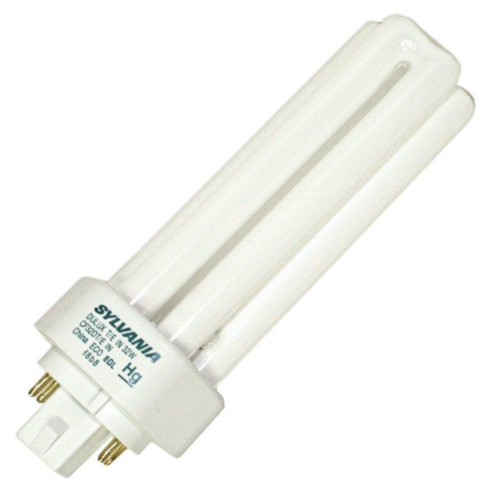 Sylvania 20885 (12-Pack) CF32DT/E/IN/835/ECO 32-Watt Triple Tube Compact Fluorescent Light Bulb, 3500K, 2400 Lumens, 82 CRI, T4 Shape, 4-Pin GX24q-3 Base