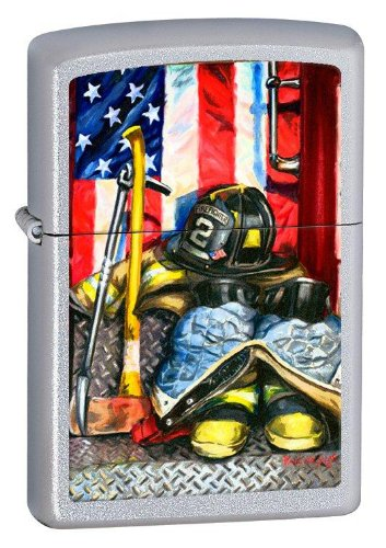 American Heroism Firefighter's Tools Paul Walsh Chrome Zippo - Firefighter Personal Tools