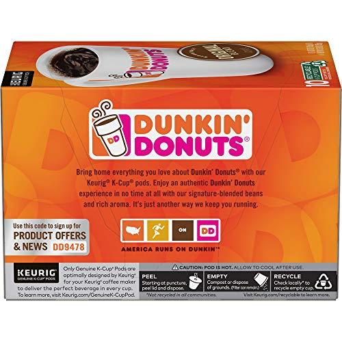 Dunkin Donuts Original Blend Medium Roast Coffee, 60 K Cups ...