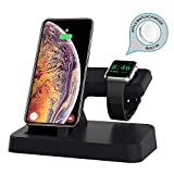 ROITON for Apple Watch Stand Charger, Wireless Magnetic Charging Dock Stand Holder for iWatch with Nightstand Mode for Apple Watch Series 4/3/2/1, Charge Station for iPhone Xs Max/Xs/Xr/X/8/8 Plus