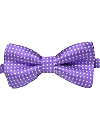 RUOYUCL Kid's Dots Pattern Bowties Unisex Children Adjustable Bow Tie Many Color