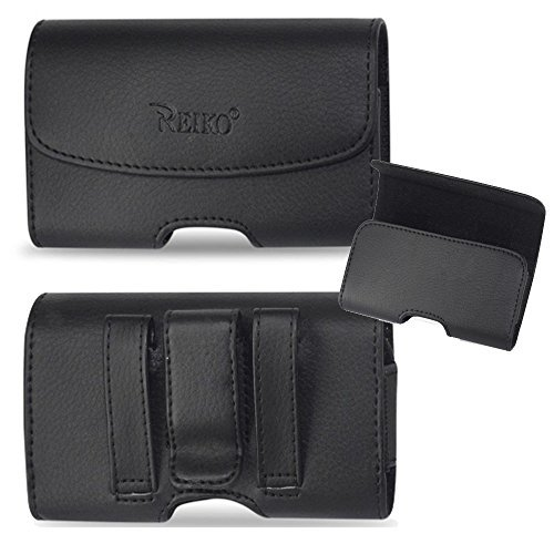 (Horizontal Leather Case with Magnetic Closure with Belt Clip and Belt Loops for Consumer Cellular Doro Phone Easy)