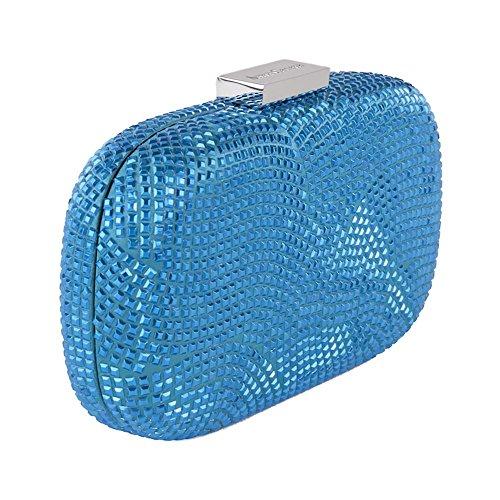 Clutch-tasche, Nives Blau Dunkel, stoff