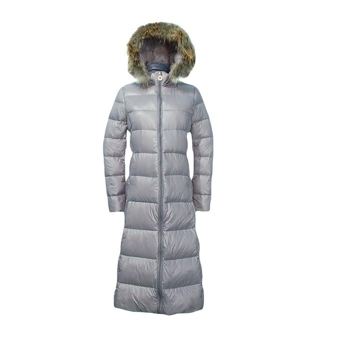 f355f188e7 Eozy Doudoune Femme Hiver avec Fourrure Manteau Chaud Manteau à Capuche  Épais Longue (Gris): Amazon.fr: Vêtements et accessoires