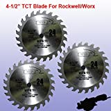 Pack of 3 TCT 24T 4-1/2' 4.5 inch Carbride Circular Saw Blade for...