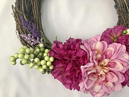 Peony-Grapevine-Wreath
