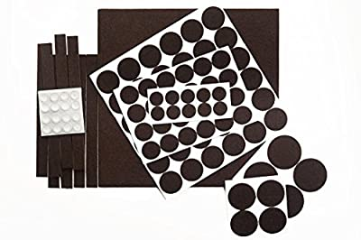 OUR HOUSE Premium Pack Furniture Pads - Felt Pads Furniture Feet Popular Sizes & Rubber Bumper Pads - Protect Your Wood Floor Hardwood & Laminate Flooring - Heavy Duty