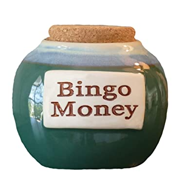 Tumbleweed - Bingo Money - Ceramic Jar With Cork - Bingo Lover Gifts - Bingo Game - Bingo Piggy Bank