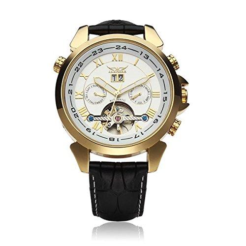 KD Bargains JARAGAR automático mecánico Lujo Volante hombres reloj de pulsera