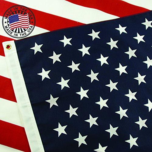American Flag: 100% Made in USA Certified by Grace Alley. 3x5 (Raiders Logo Pin)