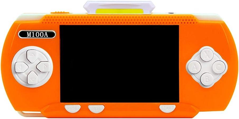 FSYG Video Incorporado De 300 Juegos Gratis 3,2 Pulgadas Retro Consola De Juegos Portátil Soporte Conectar TV Batería Recargable Regalo Cumpleaños Niños,Naranja: Amazon.es: Hogar