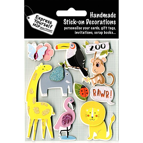 Express Yourself Mip 3D Stickers-Zoo Animals