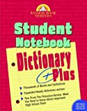 Random House Webster's Student Notebook Dictionary Plus, RH Disney Staff, 0375720871
