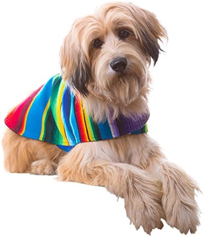 Handmade Dog Poncho from Mexican Serape Blanket - Dog Clothes - Coat - Costume - Sweater - Vest 52