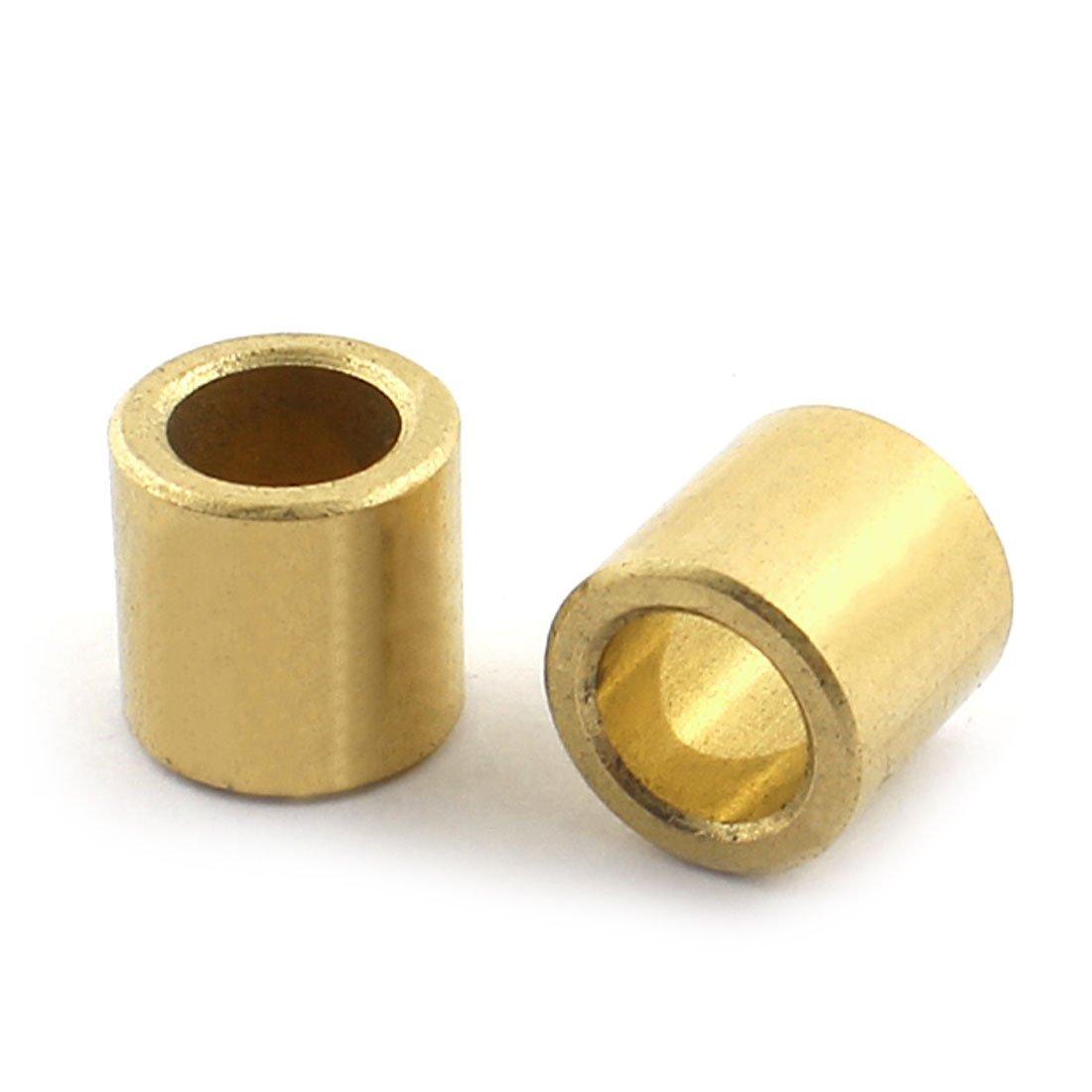 sourcingmap 2 PI/ÈCES Huile Impr/égn/és fritt/é Bronze Bagues Bague De Roulement 8x12x12mm
